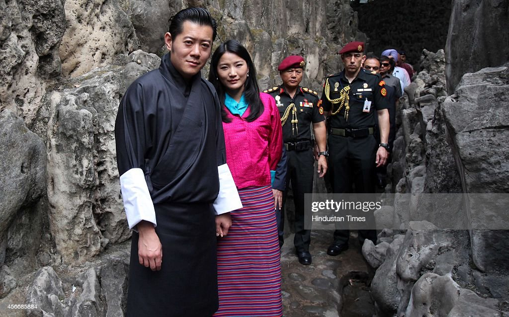 Bhutan King <a gi-track='captionPersonalityLinkClicked' href=/galleries/search?phrase=Jigme+Khesar+Namgyel+Wangchuck&family=editorial&specificpeople=737466 ng-click='$event.stopPropagation()'>Jigme Khesar Namgyel Wangchuck</a> and his wife Jetsun Pema Wangchuck at Rock Garden on October 5, 2014 in Chandigarh, India. During his visit to India, Bhutan King said India has played a vital role in education in Bhutan. <a gi-track='captionPersonalityLinkClicked' href=/galleries/search?phrase=Jigme+Khesar+Namgyel+Wangchuck&family=editorial&specificpeople=737466 ng-click='$event.stopPropagation()'>Jigme Khesar Namgyel Wangchuck</a> is the son of Jigme Singye Wangchuck and the 5th and current reigning Dragon King of the Kingdom of Bhutan. He became King on 9 December 2006.