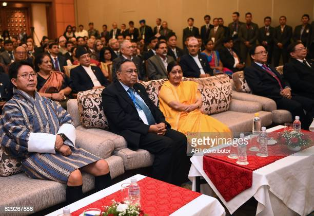 Bhutanese Foreign Minister Damcho Dorji Bangladeshi Foreign Minister Abul Hassan Mahmood Ali Indian Foreign Minister Sushma Swaraj Myanmar Deputy...