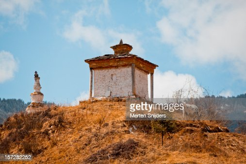 Bhutanese Stupa on a hill