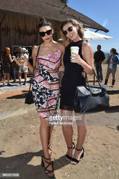 Bianca Alexa and Natasha Overin attend Hearst Castle Preservation Foundation Annual Benefit Weekend 'Lunch at the Hearst Ranch Wine Warehouse' at...