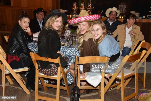 Bianca Alexa Natasha Overin Emma Atterholm and Sidney Curley attend Hearst Castle Preservation Foundation Annual Benefit Weekend 'Hearst Ranch Patron...