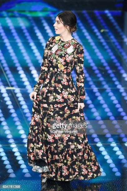 Bianca Atzei attends the closing night of 67th Sanremo Festival 2017 at Teatro Ariston on February 11 2017 in Sanremo Italy