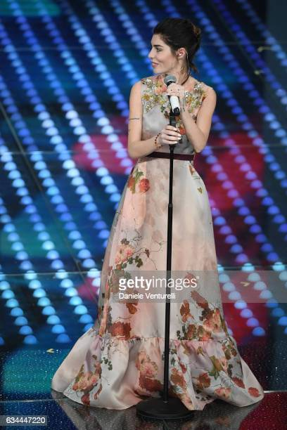 Bianca Atzei attends the third night of the 67th Sanremo Festival 2017 at Teatro Ariston on February 9 2017 in Sanremo Italy