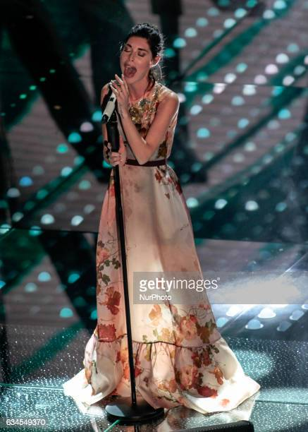 Bianca Atzei during the 67th edition of the Sanremo Festival on February 05 2017