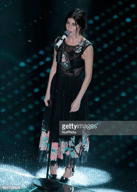 Bianca Atzei during the 67th edition of the Sanremo Festival on February 10 2017