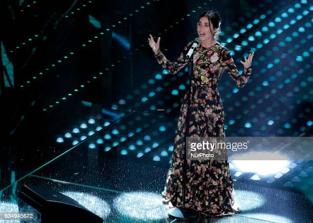 Bianca Atzei during the 67th edition of the Sanremo Festival on February 11 2017