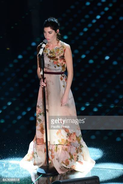 Bianca Atzei in the 67th competition of Sanremo Festival in Italy