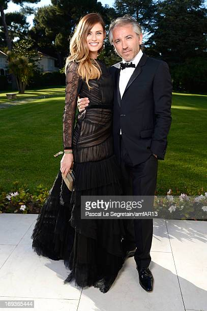 Bianca Balti and Cyril Chapuy attend amfAR's 20th Annual Cinema Against AIDS during The 66th Annual Cannes Film Festival at Hotel du CapEdenRoc on...