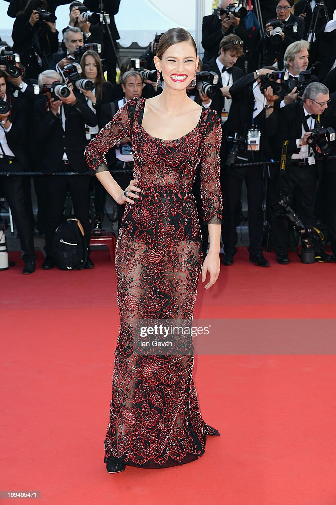 Bianca Balti arrives at 'Venus In Fur' Premiere during the 66th Annual Cannes Film Festival at Grand Theatre Lumiere on May 25, 2013 in Cannes, France.
