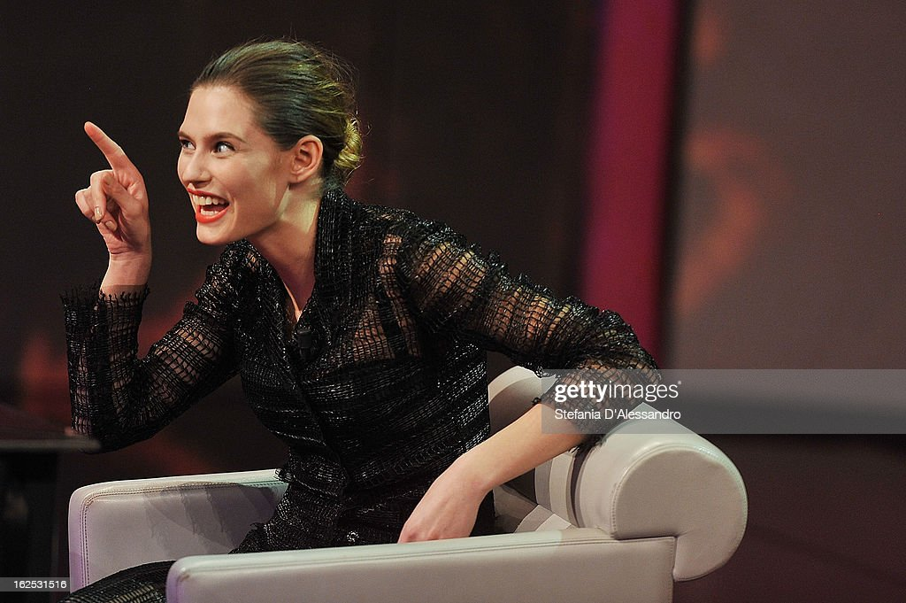Bianca Balti attends 'Che Tempo Che Fa' Italian TV Show on February 24, 2013 in Milan, Italy.