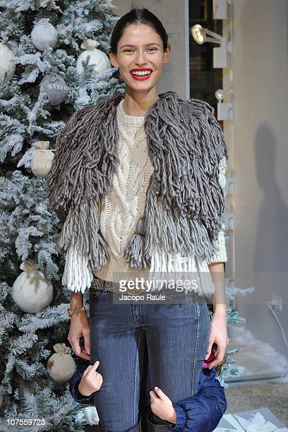 Bianca Balti attends Stefanel Hosts White Christmas Cocktail Party on December 13 2010 in Milan Italy