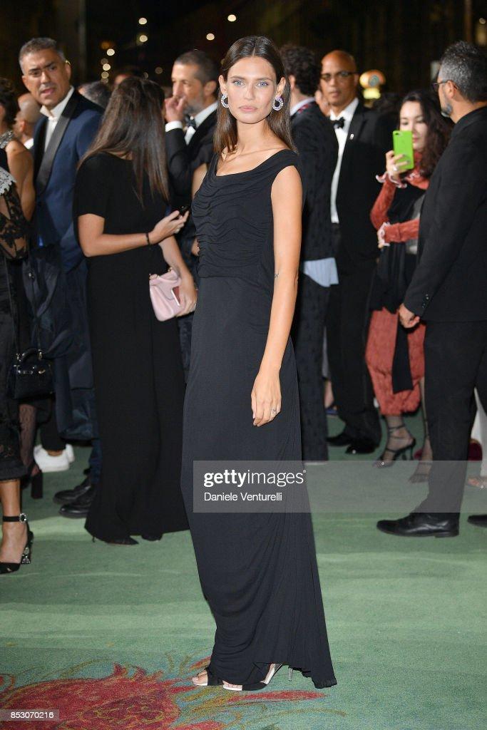 Bianca Balti attends the Green Carpet Fashion Awards Italia 2017 during Milan Fashion Week Spring/Summer 2018 on September 24, 2017 in Milan, Italy.