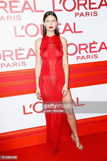Bianca Balti attends the L'Oreal Red Obsession Party during Paris Fashion Week Womenswear Fall/Winter 2016/2017 on March 8 2016 in Paris France