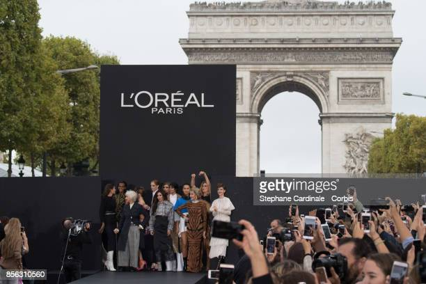 Bianca Balti Helen Mirren Thylane Blondeau Cheryl Cole Neelam Gill Irina Shayk Jane Fonda Doutzen Kroes and Barbara Palvin are seen on the runway...