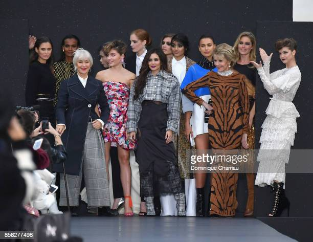 Bianca Balti Liya Kebede Helen Mirren Thylane Blondeau Cheryl Cole Neelam Gill Irina Shayk Jane Fonda Doutzen Kroes and Barbara Palvin are seen on...