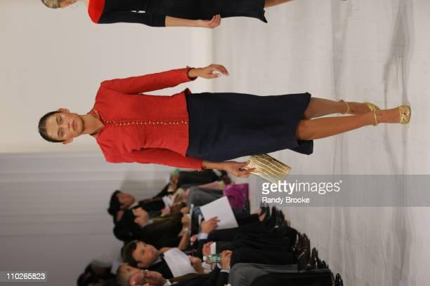 Bianca Balti wearing Ralph Lauren Spring 2006 during Olympus Fashion Week Spring 2006 Ralph Lauren Runway at The Annex in New York City New York...