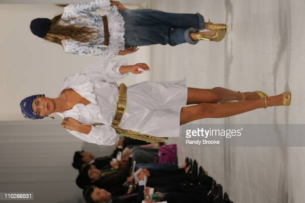 Bianca Balti wearing Ralph Lauren Spring 2006 during Olympus Fashion Week Spring 2006 Ralph Lauren Runway at The Annex in New York City New York...