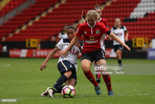 Bianca Baptiste of Tottenham scores her second goal during the FA Women's Premier League Playoff Final between Tottenham Hotspur Ladies and Blackburn...