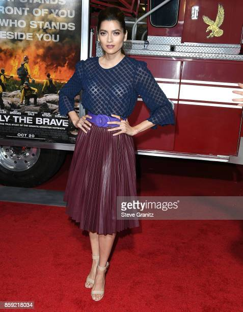 Bianca Blanco arrives at the Premiere Of Columbia Pictures' 'Only The Brave' at Regency Village Theatre on October 8 2017 in Westwood California