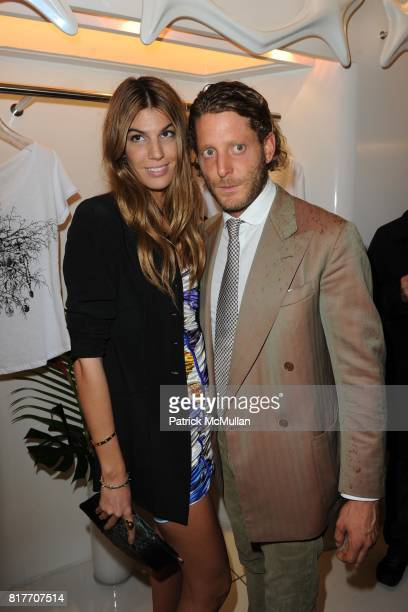 Bianca Brandolini and Lapo Elkann attend Carlos Miele and Vogue Italia Celebrate Limited Edition of TShirts Designed by Lapo Elkann and Bianca...