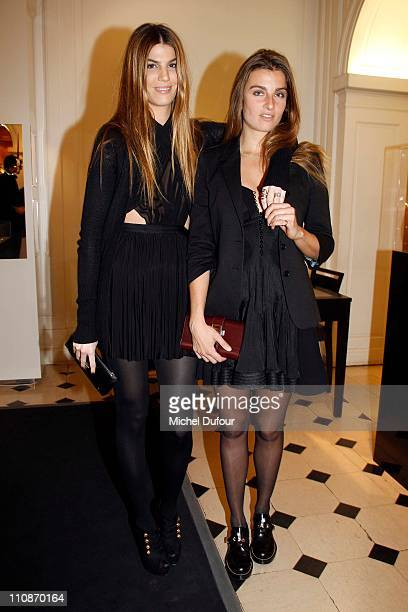Bianca Brandolini and Sonia Sieff attend at the Christofle shop the Cocktail In Honor Of Designer Ora Ito on March 24 2011 in Paris France