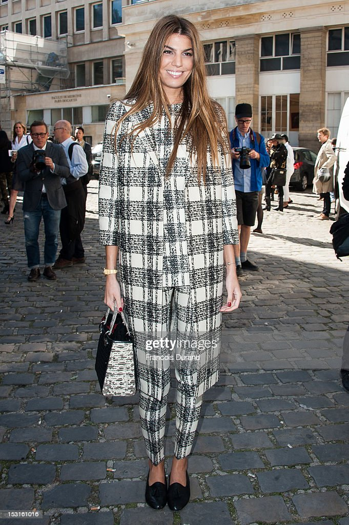 Bianca Brandolini arrives at the Giambattista Valli Spring / Summer 2013 show as part of Paris Fashion Week on October 1, 2012 in Paris, France.