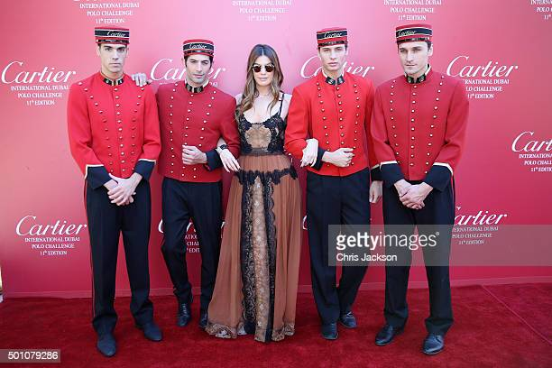 Bianca Brandolini attends the final day of Cartier International Dubai Polo Challenge 11th edition at Desert Palm Hotel on December 12 2015 in Dubai...