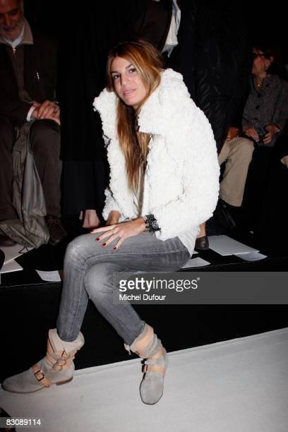 Bianca Brandolini attends the Giambattista Valli Show during Paris Fashion Week at Espace Eiffel on October 2 2008 in Paris France