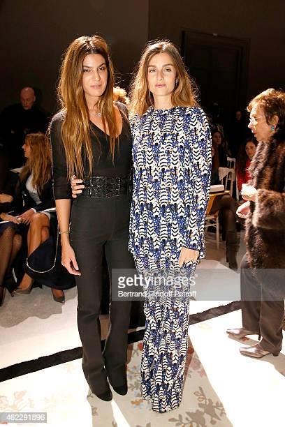Bianca Brandolini d' Adda and Sonia Sieff attend the Giambattista Valli show as part of Paris Fashion Week Haute Couture Spring/Summer 2015 on...