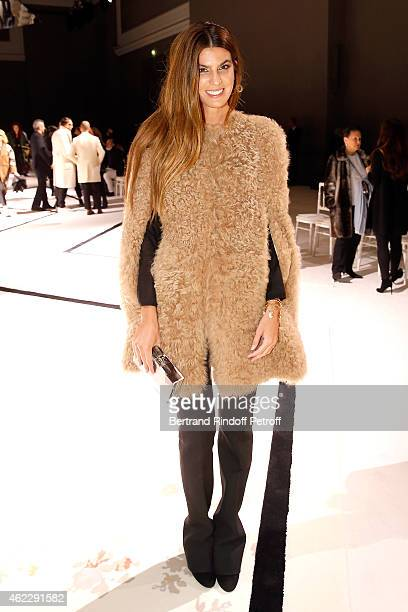 Bianca Brandolini d' Adda attends the Giambattista Valli show as part of Paris Fashion Week Haute Couture Spring/Summer 2015 on January 26 2015 in...
