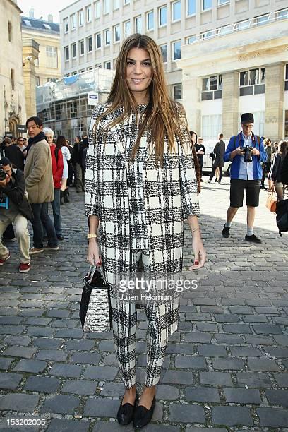 Bianca Brandolini D Adda attends the Giambattista Valli Spring / Summer 2013 show as part of Paris Fashion Week on October 1 2012 in Paris France