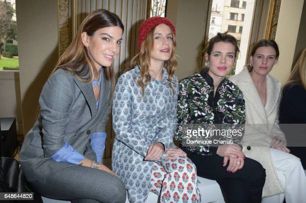 Bianca Brandolini d Adda Eugenie Niarchos Charlotte Casiraghi and Juliette Dol Maillot attend the Giambattista Valli show as part of the Paris...