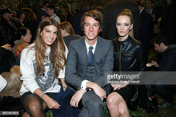 Bianca Brandolini d'Adda Alexandre Arnault and Daria Strokous attend the Christian Dior Haute Couture Spring Summer 2017 show as part of Paris...