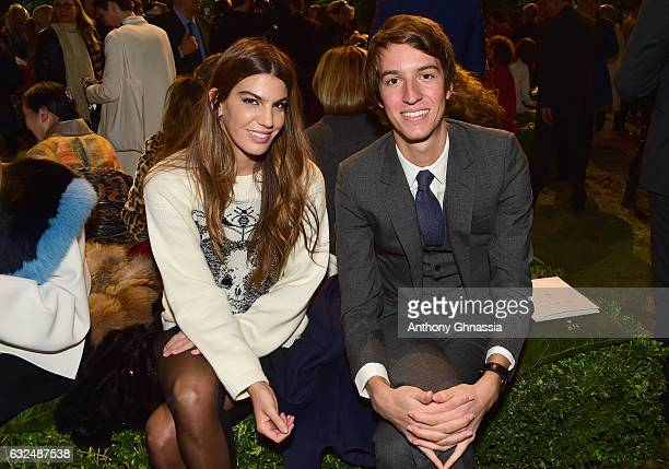 Bianca Brandolini d'Adda and Alexandre Arnault attend the Christian Dior Haute Couture Spring Summer 2017 show as part of Paris Fashion Week at Musee...
