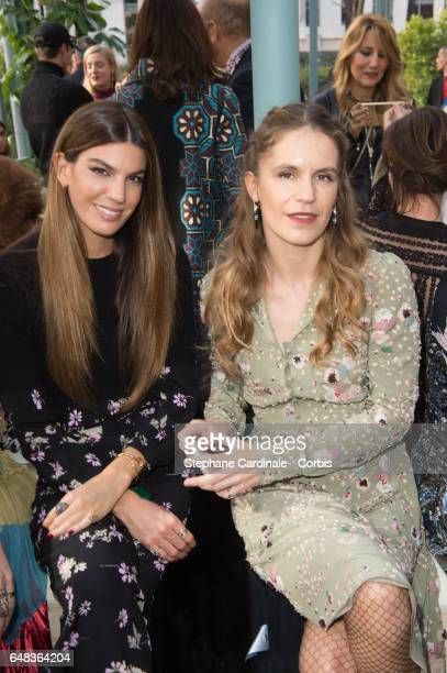 Bianca Brandolini d'Adda and Eugenia Niarchos attend the Valentino show as part of the Paris Fashion Week Womenswear Fall/Winter 2017/2018 on March 5...