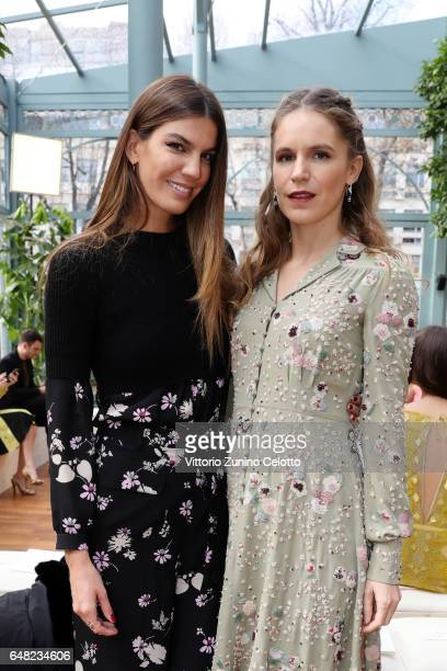 Bianca Brandolini d'Adda and Eugenie Niarchos attend the Valentino show as part of the Paris Fashion Week Womenswear Fall/Winter 2017/2018 on March 5...