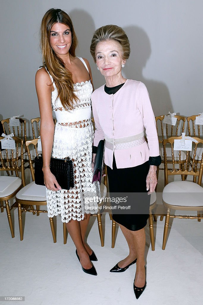 <a gi-track='captionPersonalityLinkClicked' href=/galleries/search?phrase=Bianca+Brandolini+d%27Adda&family=editorial&specificpeople=5507285 ng-click='$event.stopPropagation()'>Bianca Brandolini d'Adda</a> and Princess <a gi-track='captionPersonalityLinkClicked' href=/galleries/search?phrase=Lee+Radziwill&family=editorial&specificpeople=218138 ng-click='$event.stopPropagation()'>Lee Radziwill</a> attend the Giambattista Valli show as part of Paris Fashion Week Haute-Couture Fall/Winter 2013-2014 at on July 1, 2013 in Paris, France.