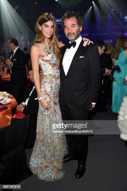 Bianca Brandolini D'Adda and Remo Ruffini attend amfAR's 21st Cinema Against AIDS Gala Presented By WORLDVIEW BOLD FILMS And BVLGARI at Hotel du...