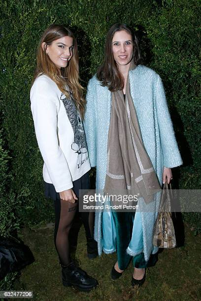 Bianca Brandolini d'Adda and Tatiana Casiraghi attend the Christian Dior Haute Couture Spring Summer 2017 show as part of Paris Fashion Week on...