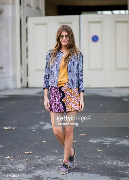 Bianca Brandolini d'Adda at Moncler Gamme Rouge during the Paris Fashion Week Womenswear Spring/Summer 2016 on Oktober 7 2015 in Paris France