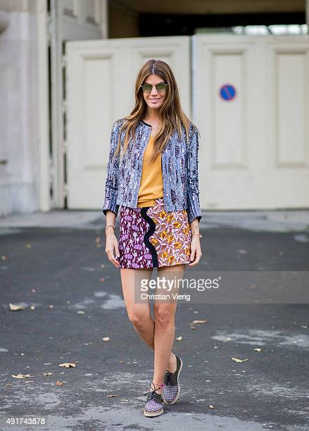 Bianca Brandolini d'Adda at Moncler Gamme Rouge during the Paris Fashion Week Womenswear Spring/Summer 2016 on Oktober 7 2015 in Paris France