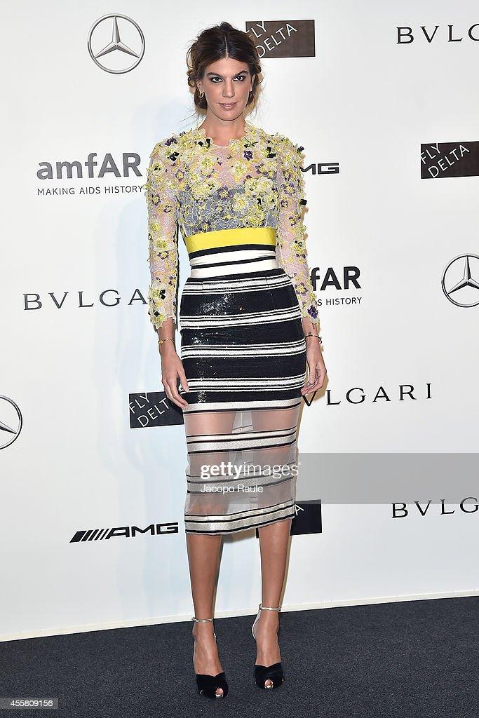 Bianca Brandolini D'adda attends amfAR Milano 2014 during Milan Fashion Week Womenswear Spring/Summer 2015 on September 20, 2014 in Milan, Italy.