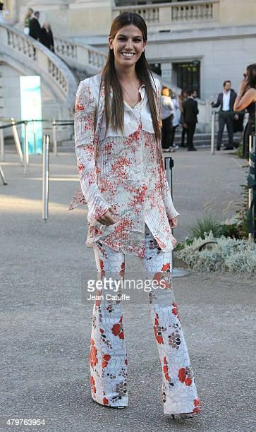 Bianca Brandolini d'Adda attends Giambattista Valli fashion show at the Grand Palais during Paris Fashion Week Haute Couture Fall/Winter 15/16 on...