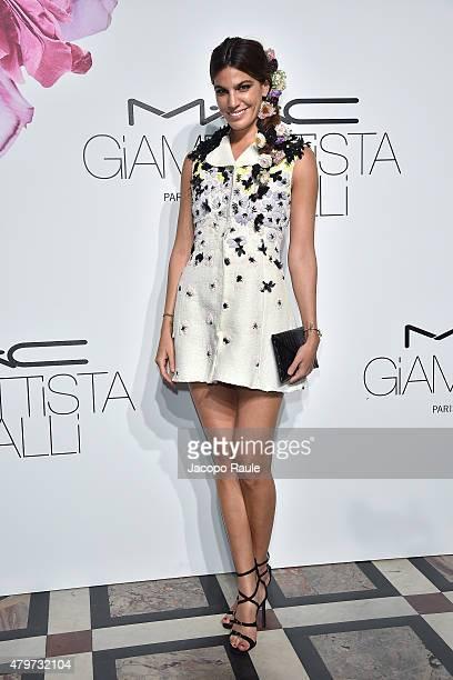 Bianca Brandolini D'Adda attends MAC Cosmetics Giambattista Valli Floral Obsession Ball In Paris at Opera Garnier on July 6 2015 in Paris France