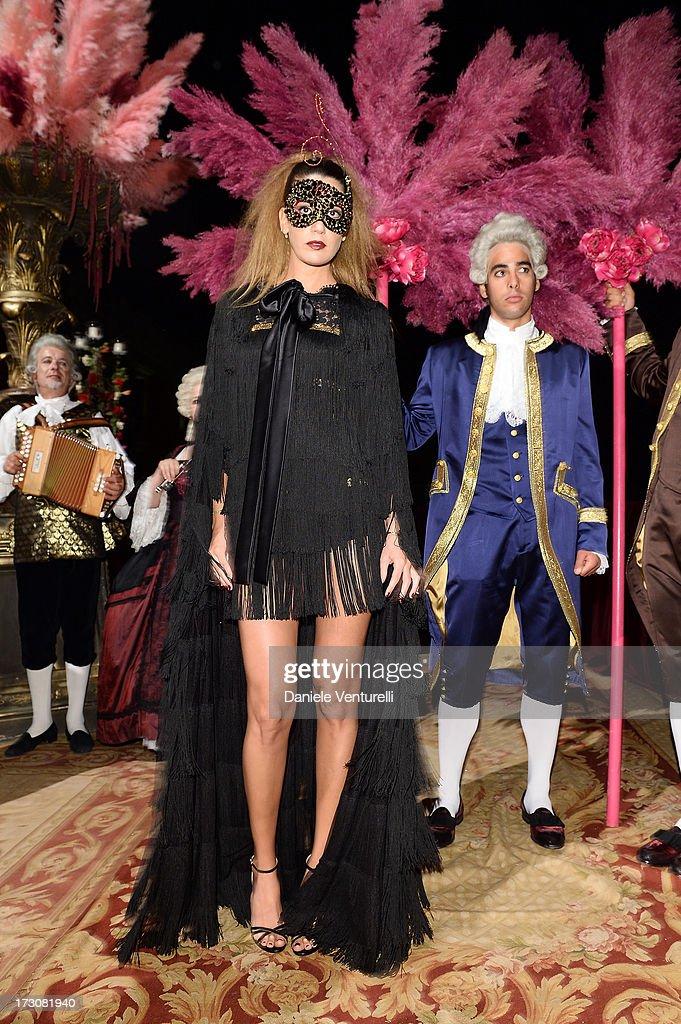 Bianca Brandolini D'Adda attends the 'Ballo in Maschera' to Celebrate Dolce&Gabbana Alta Moda at Palazzo Pisani Moretta on July 6, 2013 in Venice, Italy.