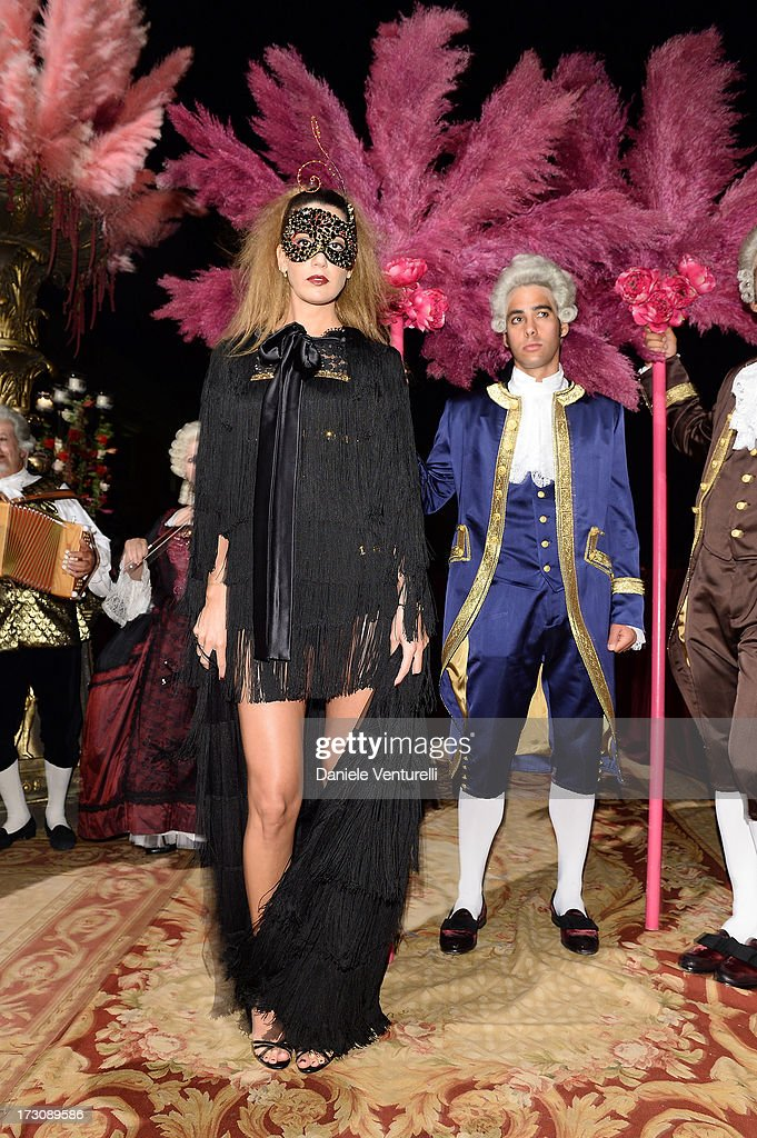 Bianca Brandolini D'Adda attends the 'Ballo in Maschera' to Celebrate Dolce&Gabbana Alta Moda at Palazzo Pisani Moretta on July 6, 2013 in Venice, Italy.