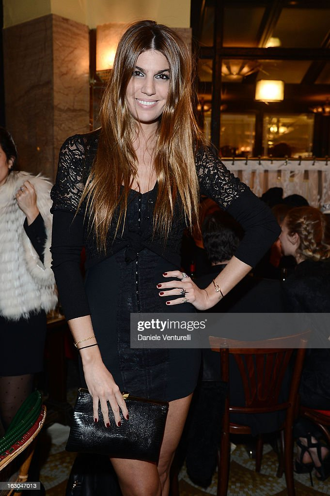 Bianca Brandolini D'Adda attends the Bulgari And Purple Magazine Party at Cafe de Flore on March 3, 2013 in Paris, France.