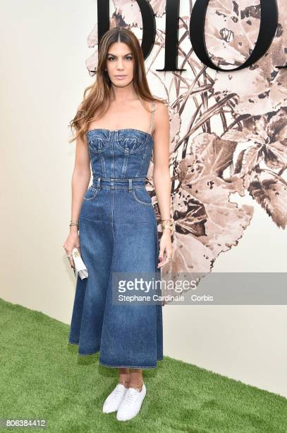 Bianca Brandolini d'Adda attends the Christian Dior Haute Couture Fall/Winter 20172018 show as part of Haute Couture Paris Fashion Week on July 3...