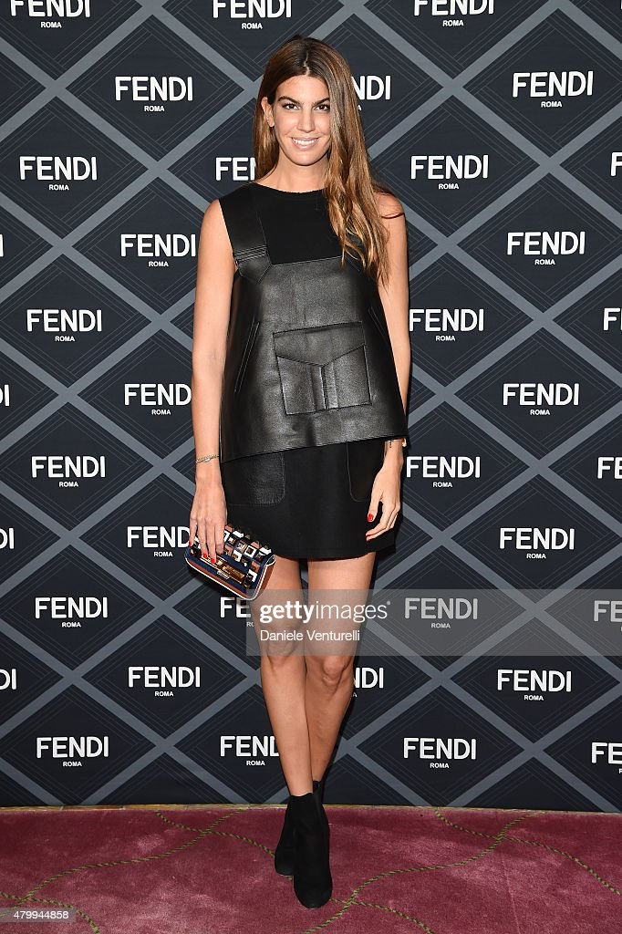 Bianca Brandolini dÕAdda attends the Fendi show as part of Paris Fashion Week Haute Couture Fall/Winter 2015/2016 on July 8, 2015 in Paris, France.