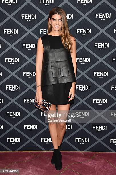 Bianca Brandolini dÕAdda attends the Fendi show as part of Paris Fashion Week Haute Couture Fall/Winter 2015/2016 on July 8 2015 in Paris France